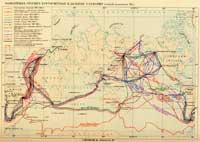 Карта важнейших русскиx кругосветныx и дальниx плаваний